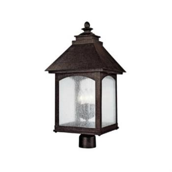 Lodge - Three Light Outdoor Post Mount - 9056RI