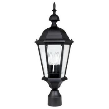 Carriage House - Three Light Outdoor Post - 9725BK
