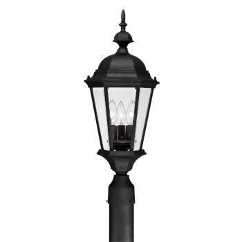 Carriage House - Three Light Outdoor Post Lantern - 9725BK