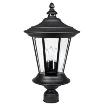 Madison - Three Light Outdoor Post - 9756BK