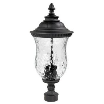 Ashford - Three Light Outdoor Post - 9785BK