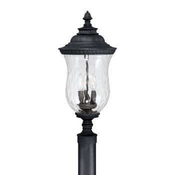 Ashford - Three Light Outdoor Post Lantern - 9785BK