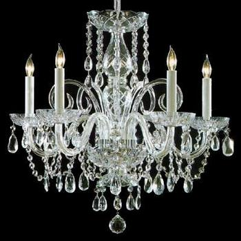 Traditional Crystal - Five Light Chandelier - 1005-CH-CL-MWP