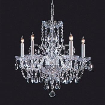 Traditional Crystal - Five Light Chandelier - 1005-CH-CL-SAQ
