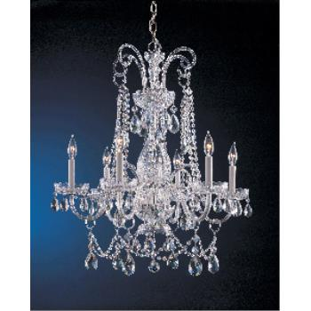 Traditional Crystal - Six Light Chandelier - 1030-CH-CL-MWP