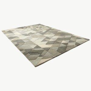 "Facets - 91"" Rug"
