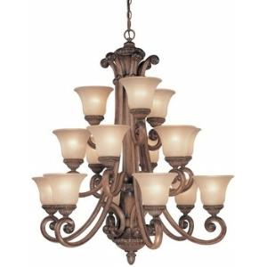 Carlyle - Fifteen Light Three Tier Chandelier