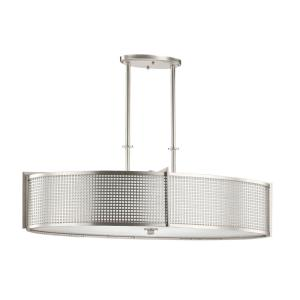 Perforated - Six Light Oval Chandelier