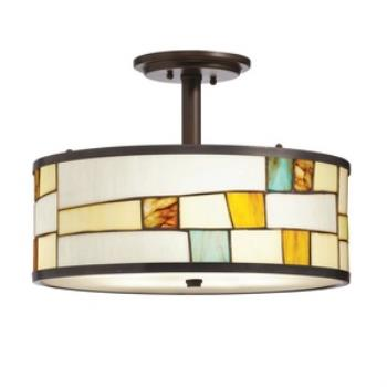 Mihaela - Three Light Semi-Flush Mount - 65345