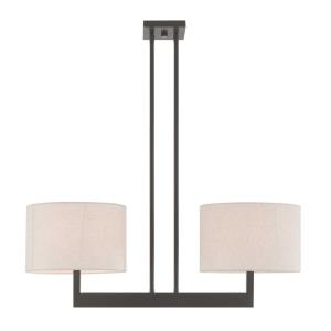 Hayworth - Two Light Linear Chandelier