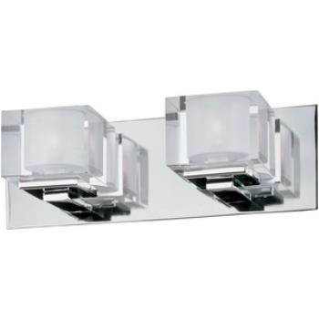 Cubic - Two Light Bath Vanity - 10002CLPC