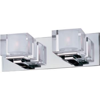 Cubic - Two Light Bath Vanity - 10002CLPC