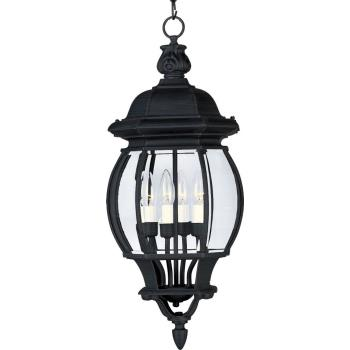 Crown Hill 4 Light Pendant Od - 1039BK