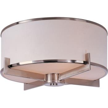 Nexus - Three Light Flush Mount - 12050WTSN