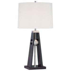 One Light Portable Table Lamp with Linen Fabric Shade