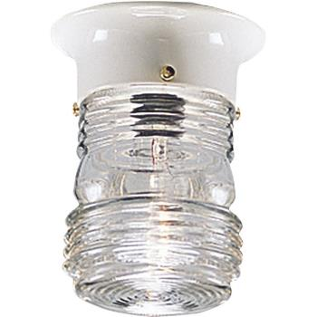 Utility - One Light Outdoor Flush Mount - P5603-30
