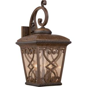 "Fort Quinn - 23"" Three Light Outdoor Wall Lantern"
