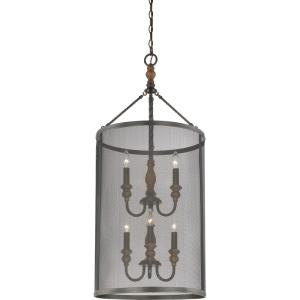 Odell - Six Light Extra Large Cage Foyer