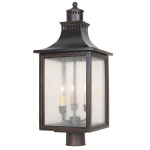Monte Grande - Three Light Outdoor Post Lantern