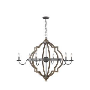 Socorro - 60W Six Light Chandelier