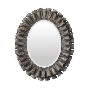 Ruffled Oval - Decorative Mirror