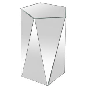 "15"" Pentagonal Mirrored Accent Table"