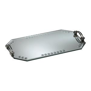 "24"" Mirrored Glass Tray"